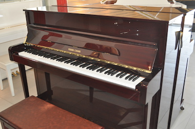 Young Chang Y114 Polished Mahogany Upright Piano