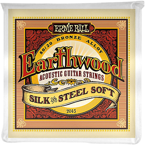 Ernie Ball 2045 Earthwood 80/20 Bronze Silk and Steel Soft Acoustic Guitar
