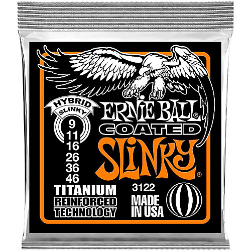 Ernie Ball 3122 Titanium Coated Hybrid Slinky Electric Guitar Strings