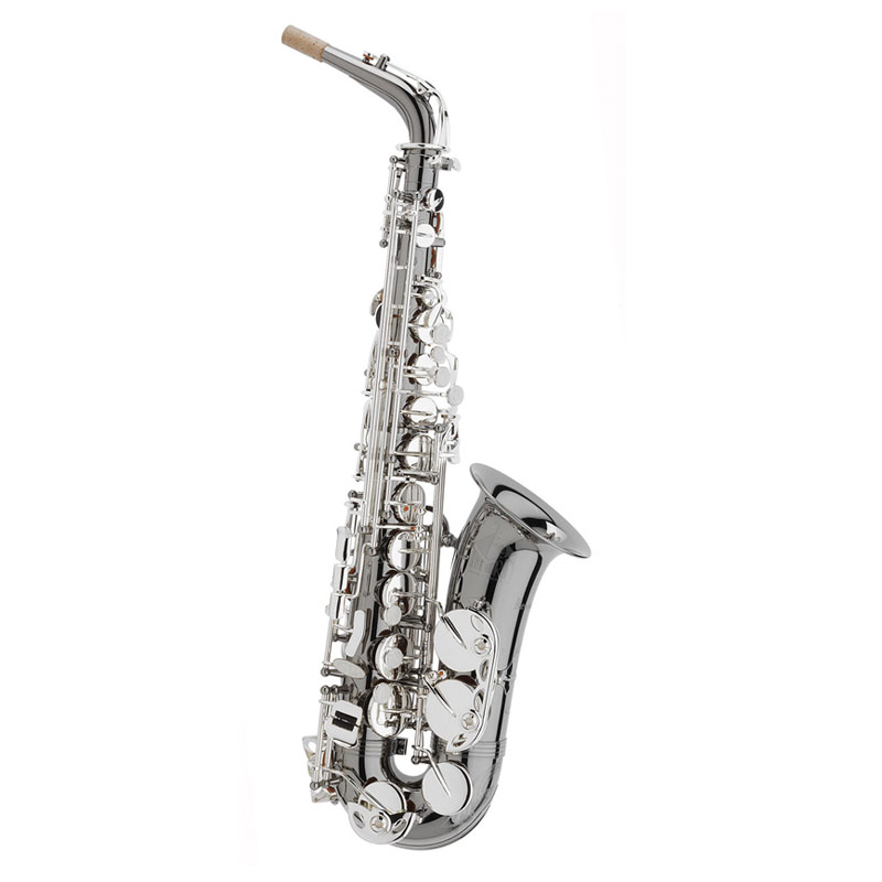 Trevor James 3722BS Black Body With Siver Key Work Alto Saxophone