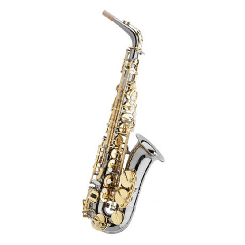 Trevor James - SR Series 374SR-BK Black  nickel-plated,   with  gold  lacquered mechanism Alto Sax