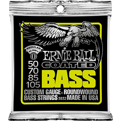 Ernie Ball 3832 Coated Regular Slinky Roundwound Bass Strings