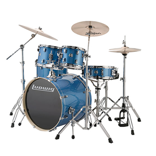 "Ludwig LCEE20023 Evolution Outfit 20"" w/ Hardware - Blue Sparkle"