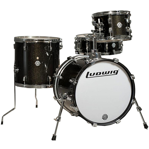 Ludwig LC179XX016 Breakbeats by Questlove Shell Pack - Black Sparkle