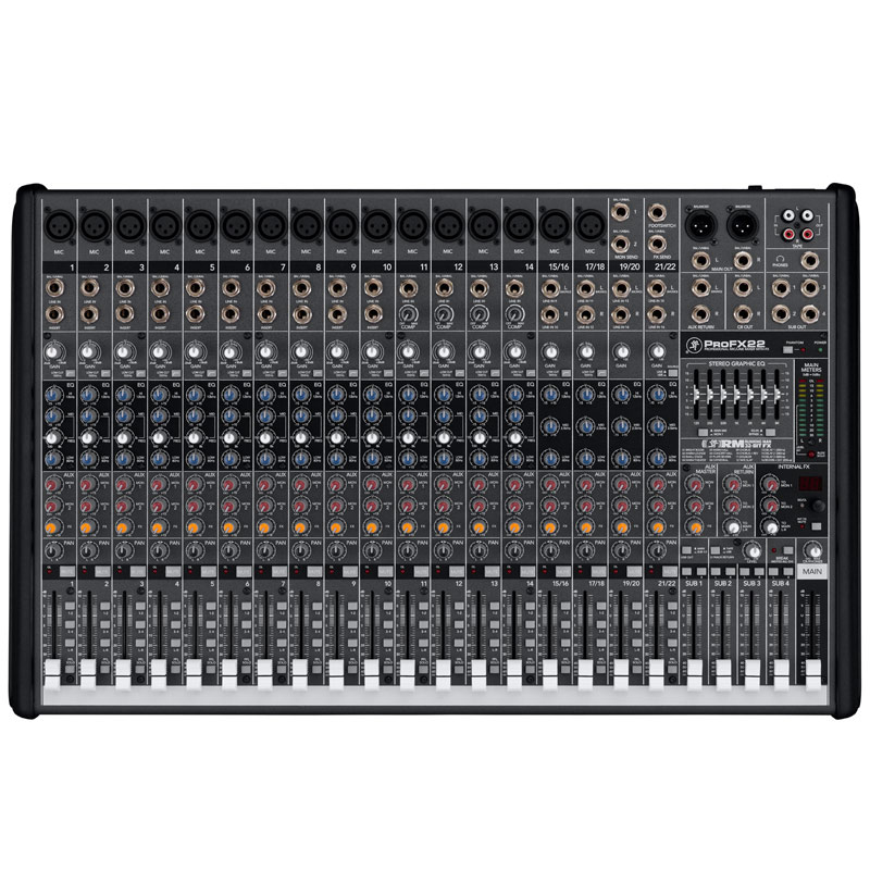 Mackie Pro FX22 Professional Effects Mixer with USB