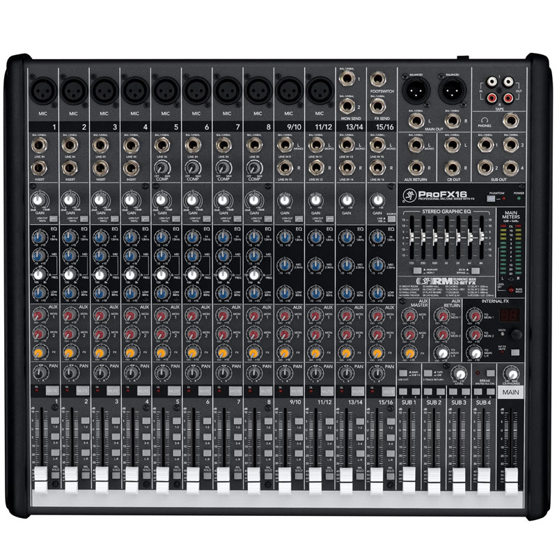 Mackie Pro FX16 Professional Effects Mixer with USB