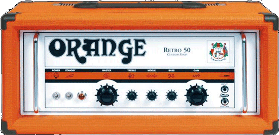 Orange Retro 50 Head