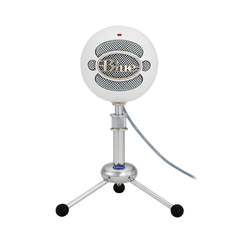 Blue Snowball USB Condenser Microphone  (Textured White)