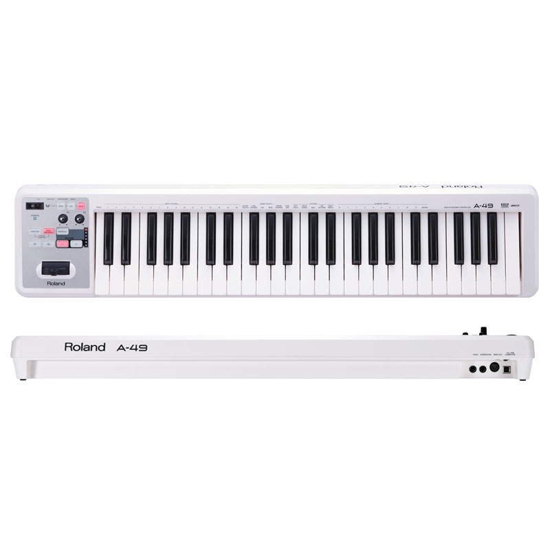 Roland A-49 MIDI Keyboard Controller (White)