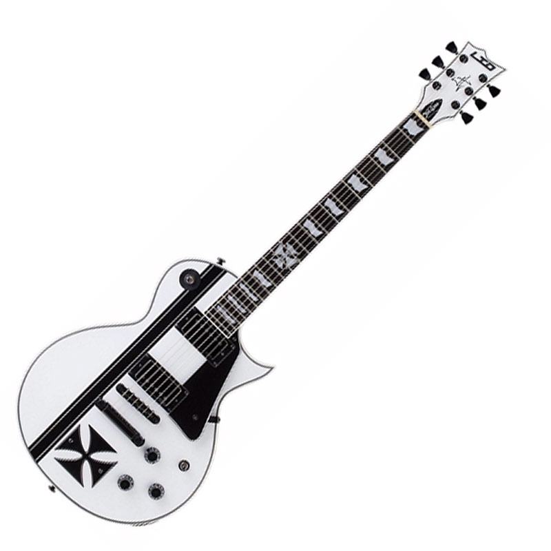 ESP LTD James Hetfield Signature Iron Cross Electric Guitar  Snow White (Korean)