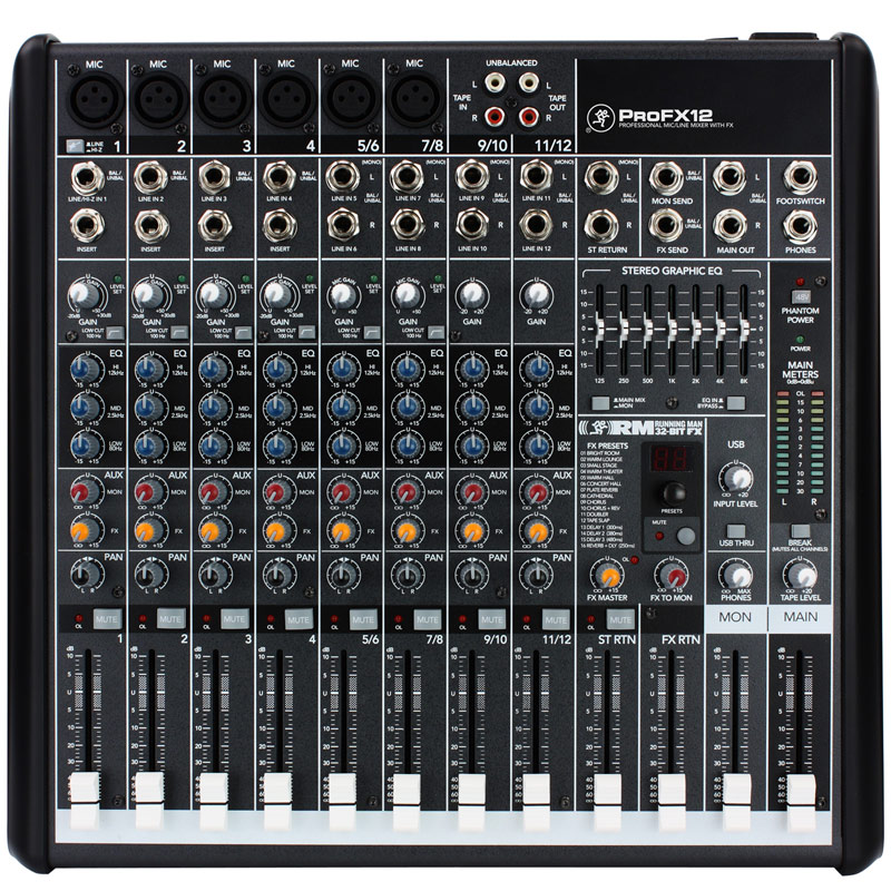 Mackie Pro FX12 Professional Effects Mixer with USB