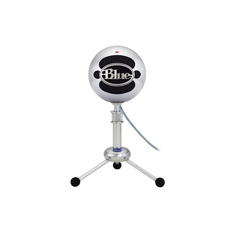 Blue Snowball USB Condenser Microphone  (Brushed Aluminum)