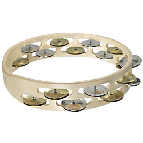 Tycoon Percussion Double Raw Wooden Tambourine