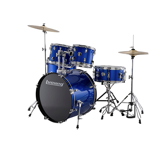 Ludwig LC17519 Accent Drive 5 PC - Blue Foil