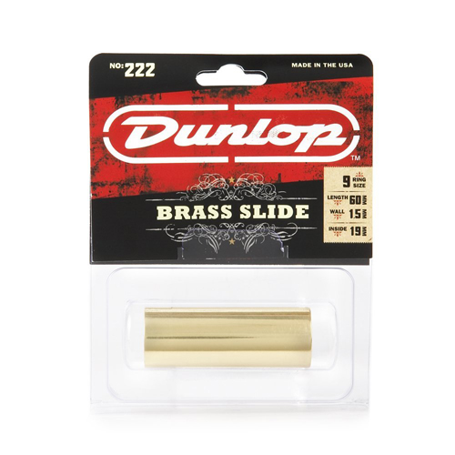Dunlop 222 SI Brass Slide Medium