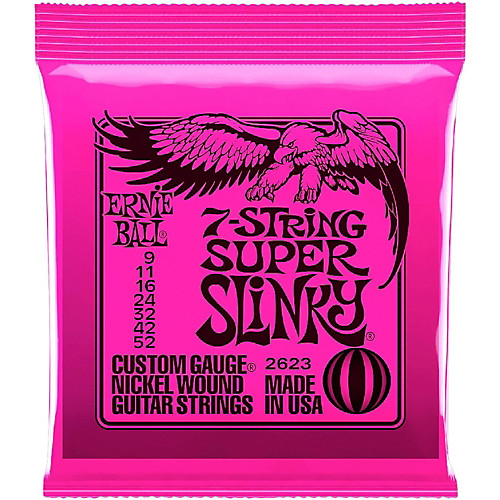 Ernie Ball 2623 Super Slinky 7-String Electric Guitar Strings