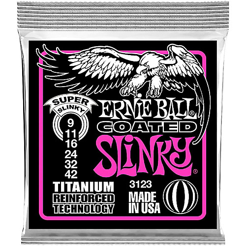 Ernie Ball 3123 Titanium Coated Super Slinky Electric Guitar Strings