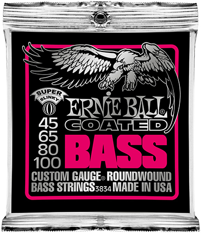 Ernie Ball 3834 Coated Bass Strings - Super Slinky