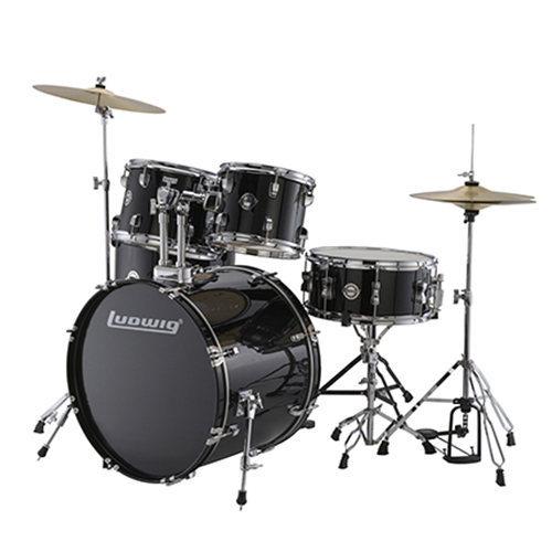 Ludwig LC17011 Accent Fuse 5 PC - Black Cortex