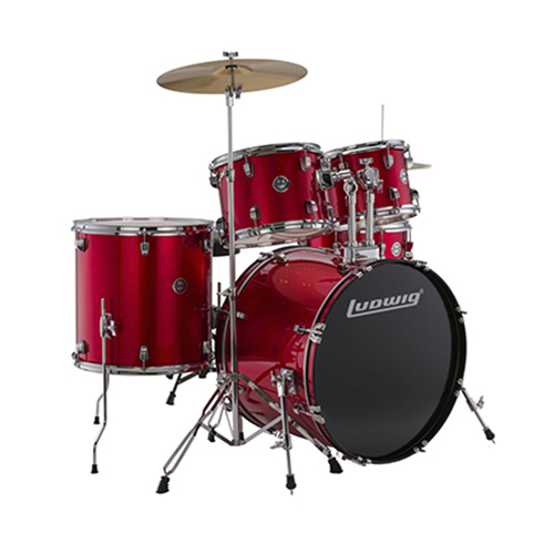 Ludwig LC17014 Accent Fuse 5 PC - Red Foil
