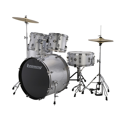 Ludwig LC17515 Accent Drive 5 PC - Silver Foil