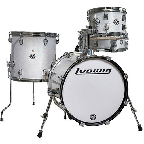 Ludwig LC179XX028 Breakbeats by Questlove Shell Pack - White Sparkle