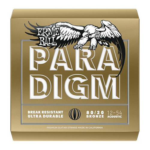 Ernie Ball 2086 80/20 Bronze Paradigm Acoustic Guitar String, Medium-Light