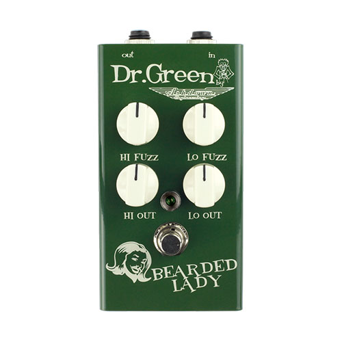 Dr. Green Bearded Lady Vintage Fuzz Bass Effects Pedal
