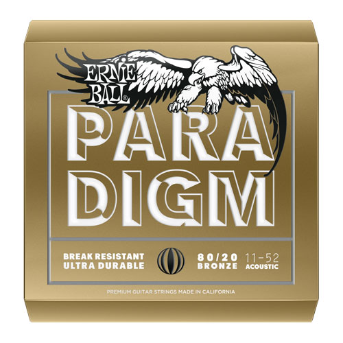 Ernie Ball 2088 80/20 Bronze Paradigm Acoustic Guitar String, Light