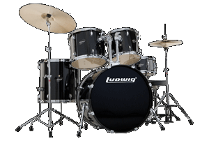 Ludwig Accent CS Combo Power Black W/ HRDWR